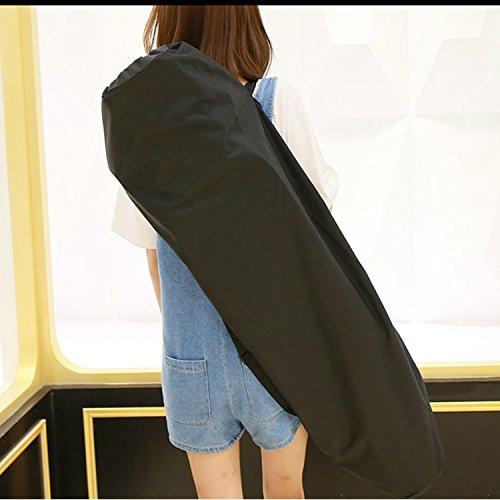 Longboard Skateboard Carry Bag - Portable Skateboard One-shoulder Bag Handy Backpack, Black by YS Sport (Image #2)