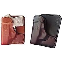 J&J Custom Fit RUGER LCP 380 W/ CRIMSON TRACE Laser Formed Wallet Style Premium Leather Back / Cargo Pocket Holster