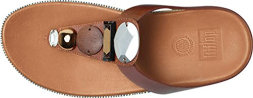 Fitflop Jeweley Allacciatura Sandali Scuro Tan UK4 Scuro Tan