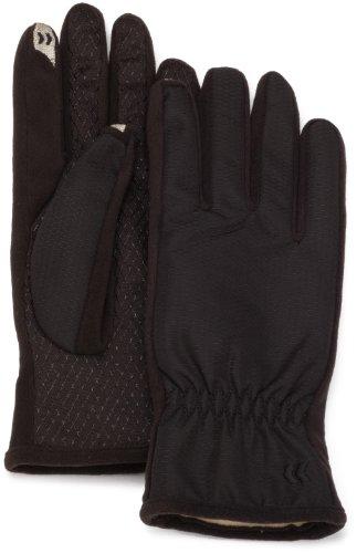 Isotoner Women's Smartouch Matrix Nylon Glove,Black,One Size