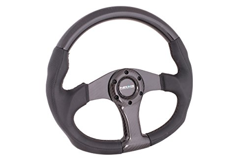NRG ST-013CFCF Carbon Fiber Steering Wheel (350mm Black C...
