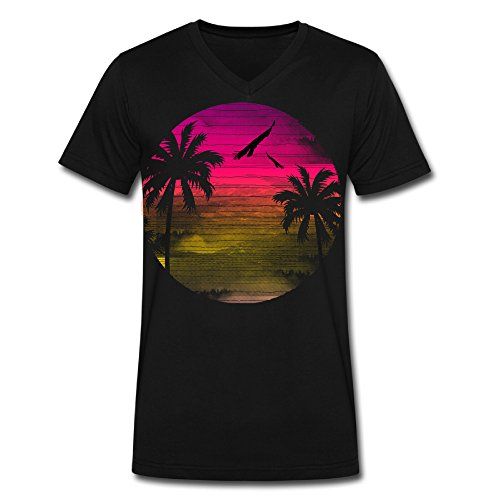 Paradise V Neck 100 Cotton Tshirts For