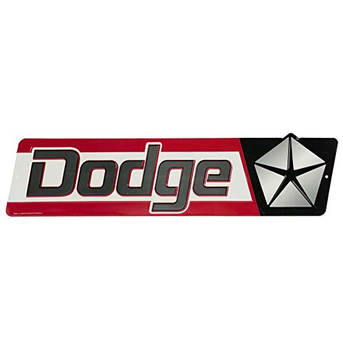 (Open Road Brands Dodge Embossed Tin Street Sign)