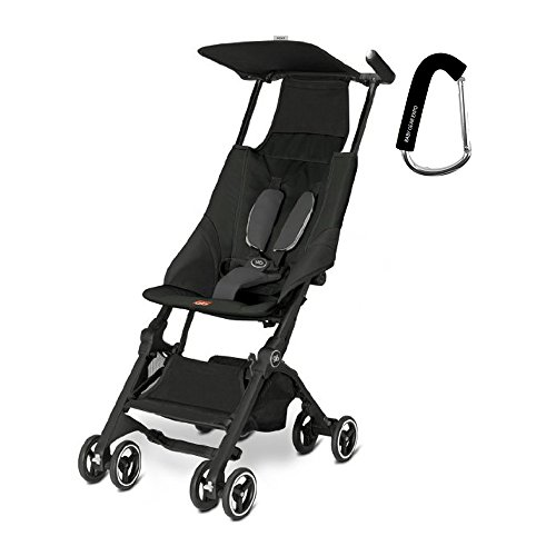 2017 GB Pockit Stroller - FREE BABY GEAR XPO STROLLER HOOK WITH PURCHASE (Monument Black) by gb