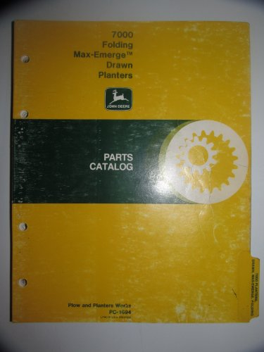 John Deere 7000 Folding Drawn Planter Parts Catalog Book Manual Original (Planter Parts Catalog)