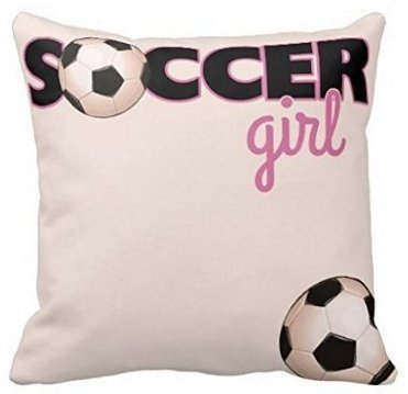 Leiacikl22 Soccer Girl Square Throw Pillow Case 18 Inches by Leiacikl22