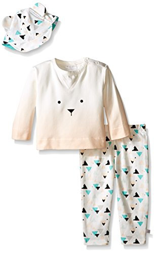 - Rosie Pope Little Girls 3 Piece Mountain and Ombre French Terry Top, Printed Jersey Leggings and Jersey Hat Set, Scallop Shell, 24 Months