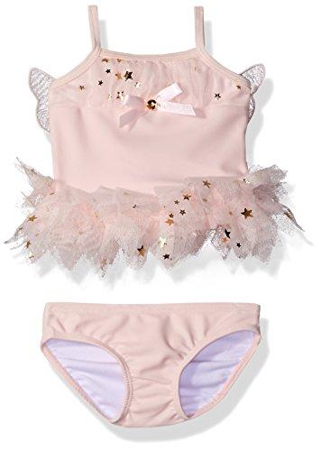 Kate Mack Girls' Fairy Dance 2 Piece Skirted Swimsuit, Pink, 6 - Tankini Mack Kate Nylon