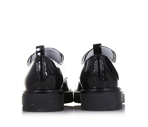 vernis Fille Italy NERO en noire GIARDINI Filles in made Chaussure lacets à Femme RRq6YwU