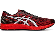ASICS Men's Gel-DS Trainer 25 Running Shoes, 12M, Fiery RED/White