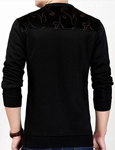 Black Winter today Sleeves Thermal T Warm Shirt Crewneck Floral UK Mens Long ffqTrPEx