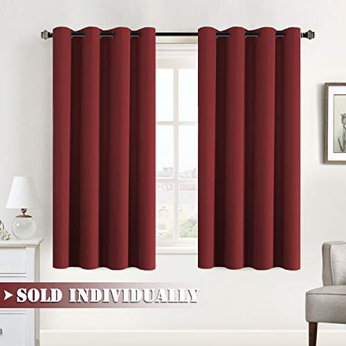 Flamingo P Blackout Bedroom Curtain Panels 63 Length Window Treatment Thermal Insulated Grommet...