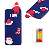 Cute Cartoon Case For Samsung Galaxy S8 Plus,Funyee Stylish 3D Christmas Santa Claus Design Ultra Thin Soft TPU Silicone Case for Samsung Galaxy S8 Plus,Anti-scratch Rubber Durable Shell Smart Phone Case with Free Screen Protector,Blue