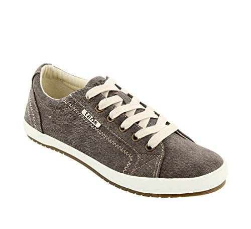 Taos Footwear Women's Star Chocolate Wash Canvas Sneaker 8 M US