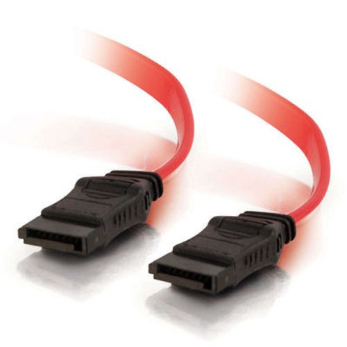 (C2G 10192 7-pin 180° 1-Device Serial ATA Cable, Red (1 Foot, 12 Inches))