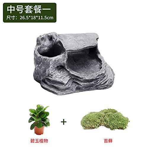 [Micro Landscape] Medium One JRTAN&Pet Turtle cave hides the sun terrace terrace, [micro landscape] medium one