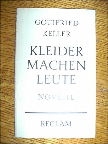 Kleider Machen Leute Reclam 7470 Amazon De Gottfried Keller Bucher