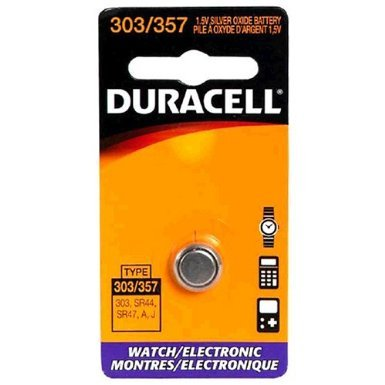 Duracell DL303/357BPK Watch/Electronic Battery, Pocket Tray