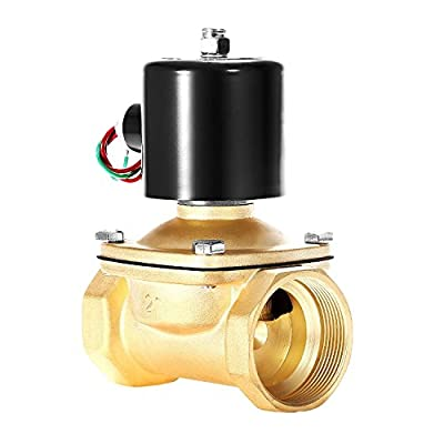 "BACOENG 2"" NPT Electric Solenoid Valve 110V AC Normally Closed Solenoid Valve from BACOENG"