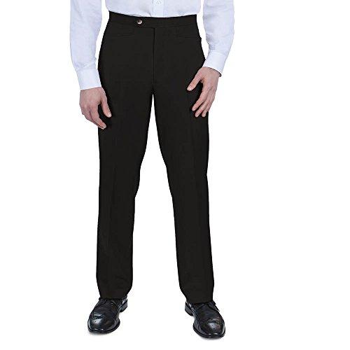 SANSABELT Men's Classic Fit Comfort-Waist Mini Check Pants With Western Pockets -
