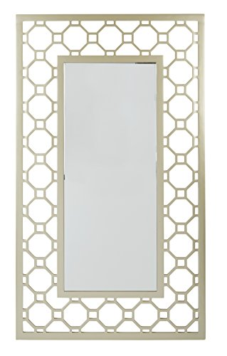 OSP Designs Gold and Silver Frame Square Mirror by OSP Designs
