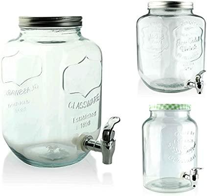 Dispensador de zumo Ver. Grandes de cristal con grifo ...