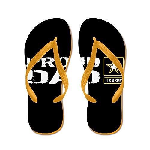 Esercito Di Noi Militari: Papà Orgoglioso (nero) - Infradito, Sandali Infradito Divertenti, Sandali Da Spiaggia Arancione