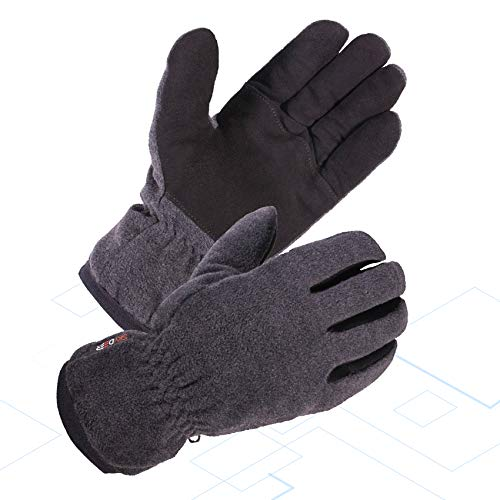 - SKYDEER Winter Work Glove with Warm Deerskin Suede Leather and Thick Windproof Polar Fleece (SD8662T/S)