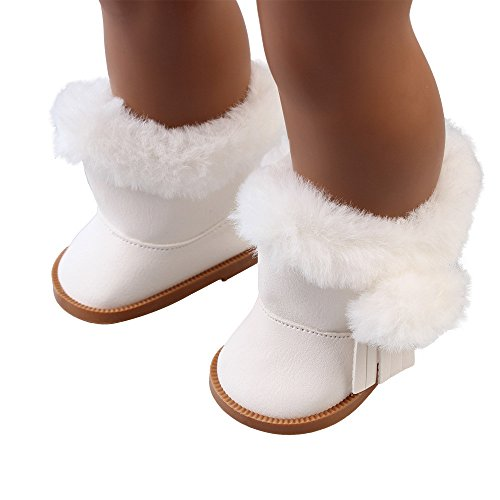 Livoty Plush Winter Snow Boots Doll Shoes Doll