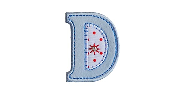 Amazon Com Trickyboo Iron On Letter Patch Craft Applique D Baby