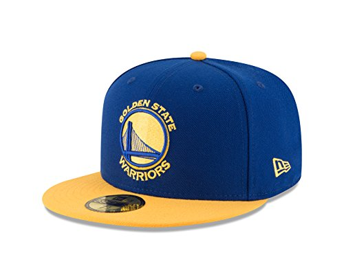 (NBA Golden State Warriors Men's 2-Tone 59FIFTY Fitted Cap, 7.25, Royal)