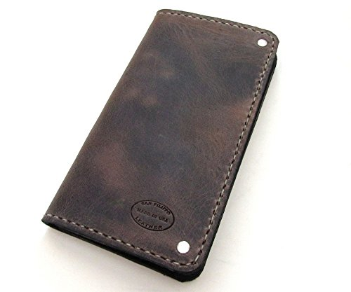 Men's Distressed Brown Leather Wallet Can Be Personalized by San Filippo Leather