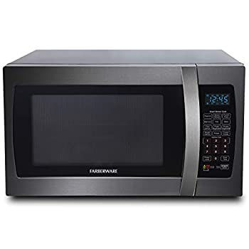 Image of Farberware Black FMO13AHTBSE 1.3 Cu. Ft. 1100-Watt Microwave Oven with Smart Sensor Cooking, ECO Mode and Blue LED Lighting Black Stainless Steel