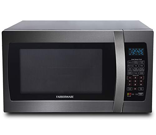 Farberware Black FMO13AHTBSE 1.3 Cu. Ft. 1100-Watt Microwave Oven with Smart Sensor Cooking