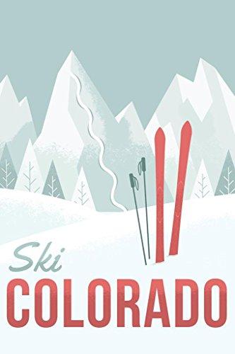 Ski Colorado Travel Retro Poster 24x36 inch