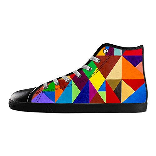 Dalliy Bunte Muster Womens Canvas shoes Schuhe Lace-up High-top Footwear Sneakers A