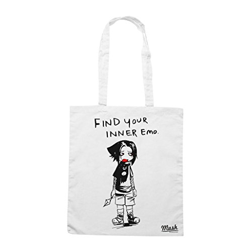 Borsa Find Your Inner Emo Sasuke - Bianca - Cartoon by Mush Dress Your Style