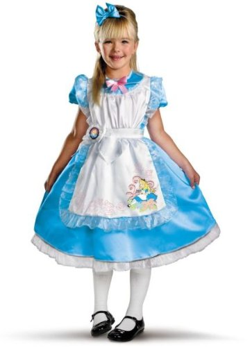 Alice in Wonderland Deluxe Kids Costume, Light Blue/White, Medium(7-8)