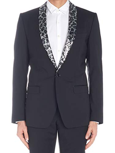 Dolce e Gabbana Luxury Fashion Mens G2JP9ZGEG11N0000 Black Blazer | Season Outlet