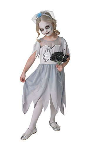 Dearly Departed Bride Corpse Bride Kids Halloween Fancy Dress Small