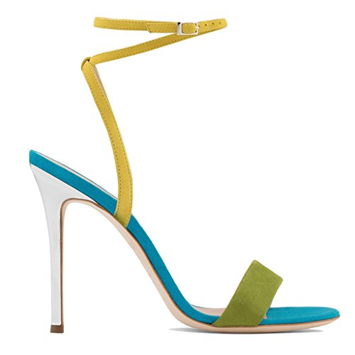 Women's Colour Matching Sandals With Chic Chic With And Lovely Dinner Pump High Heels B07CJW3ZT9 Shoes 8b374e