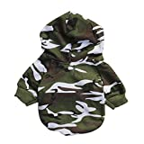 Barlingrock Pet Clothes Christmas, Winter Dogs Clothing, Dog Coat Dog Sweater Windproof Shirt, Puppy Dog Warm Camouflage Coat Hoodies Apparel for Small Dog