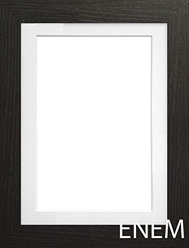 Black Photo Frame With White Ivory & Black Mount Multi Aperture ...