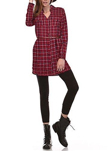 Styleyet Women Checker Button Flannel