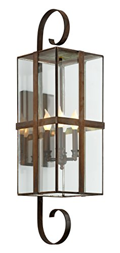 Troy Lighting B6563NR Rutherford Outdoor Wall Sconce, Natural (Natural Rust Troy Lighting)