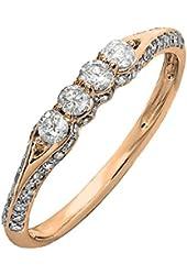 0.40 Carat (ctw) 14K Gold Round Diamond Ladies Anniversary Wedding Band Stackable Ring