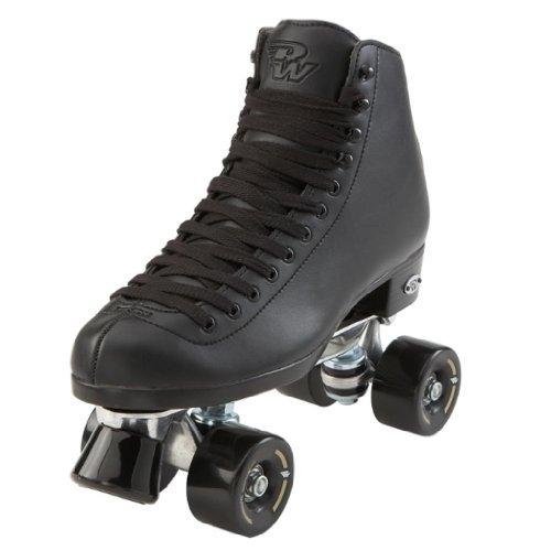 Riedell Wave Mens Black Skates - Riedell Wave Black Quad Roller Skates