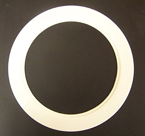 Plastic White Light Trim Ring Recessed Can 6 Quot Inch Over