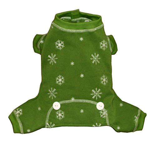 Hip Doggie Green Snowflake Longjohns, X-Large by Hip Doggie