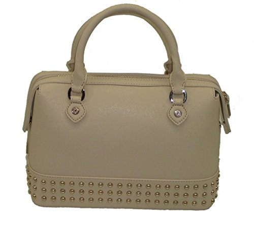 Love Moschino Top JC4239 SHOULDER BAG Ivoire borchiette avec bandoulière